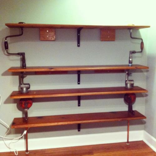Antique tool shelves