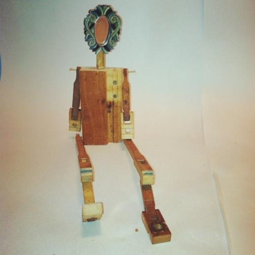 Doll with frame head
