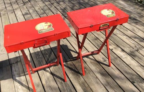 Erector set folding tables