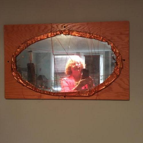 Copper-edged mirror